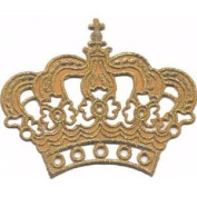 """ Crown "" Iron On Patch Gold"