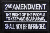 2nd Amendment black tactical patch