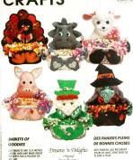 OOP McCall's Crafts Pattern 7166. The Original Treat Baskets. Pig; Dinosaur; Turkey; Leprechaun; Witch; Lamb