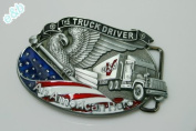 Brand:e & b New Western 3d Us Truck Driver Enamelled Belt Buckle 3d-041