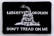 Liberty or Death Don't Tread on Me Patch - Black