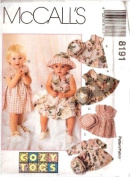 McCall's Sewing Pattern 8191 Toddlers' Dress & Hat - 4 Styles, CB