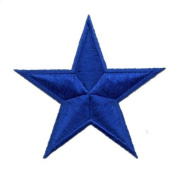 """ Blue Star "" Iron On Patch"
