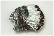 Brand:choi Indian Chief Enamelled Belt Buckle Wt-073