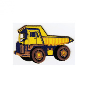 """ LKW Dumper Truck "" Iron On Patch Yellow"