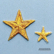 Yellow Achievement Star Patch 2.5cm