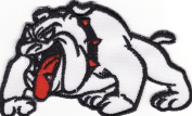 BULL DOG EMBROIDERED IRON ON PATCH D2
