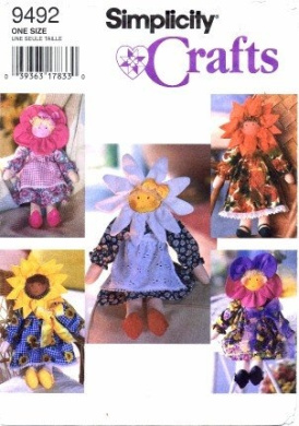 Simplicity 9492 Crafts 43cm Doll and Clothes