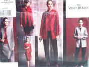 OOP Vogue Woman Pattern 2771. Women's Sizes 14;16;18 Lined Jacket, Top, Dress, Skirt & Pants