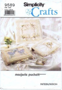 Simplicity 9589 Crafts Sewing Pattern Marjorie Puckett Fabric Book Covers