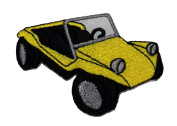 Buggy Car Yellow DIY Applique Embroidered Sew Iron on Patch