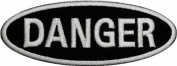 Danger Badge Chopper Biker Motorcycle DIY Applique Embroidered Sew Iron on Patch