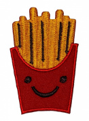 Cute French Fries Kid DIY Embroidered Sew Iron on Patch