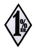 1% er 1 % 1%er 1er Outlaw Chopper Motorcycle Club Gang Biker DIY Applique Embroidered Sew Iron on Patch