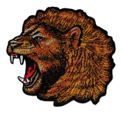Angry Lion Zoo Safari Animal Wildlife DIY Applique Embroidered Sew Iron on Patch