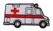 Ambulance DIY Applique Embroidered Sew Iron on Patch