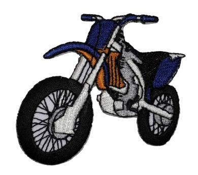 Motocross Motorcycle Biker DIY Applique Embroidered Sew Iron on Patch