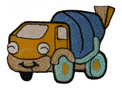 Cute Cartoon Concrete Mixer Truck DIY Applique Embroidered Sew Iron on Patch