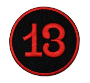 Lucky Number 13 Thirteen Logo Biker DIY Applique Embroidered Sew Iron on Patch