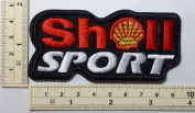 C8#Shell Helix Sport Team Fuel Gas Station Lubricant Logo Auto Car Motor Sport Jacket T-shirt Embroidered Sew Iron on Patch