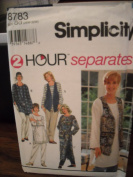Simplicity 8783 2 hour separates size GG