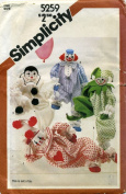 Simplicity Decorative Clown Doll Sewing Pattern #5259