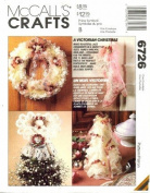 McCall's 6726 Crafts Sewing Pattern Victorian Christmas Ornaments Wreath Garland Stockings Centrepiece Tree Topper