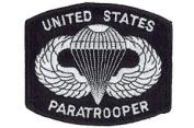 US Paratrooper Patch