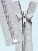 90cm Light Weight Jacket Zipper ~ YKK #5 Nylon Coil Separating Zippers - 119 Lite Grey