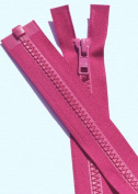 90cm Vislon Zipper YKK #5 Moulded Plastic ~ Separating Bottom ~ 817 Cerise
