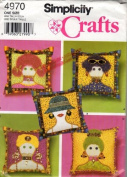 Appliqued Pillow Simplicity Pattern 4970