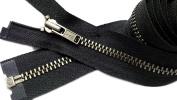 Sale 90cm Jacket Zipper YKK #3 Antique Nickel Separating - Colour 580 Black