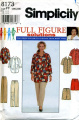 Simplicity Full Figure Solutions Shirt, Pants, Short Sewing Pattern #8173