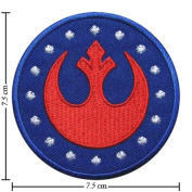Star Wars Rebel Alliance Logo Ii Embroidered Sew Iron on Patches Great Gift for Dad Mom Man Woman