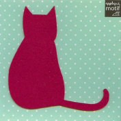 Fushsia Cat Design Iron on Applique