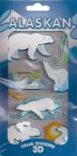 ALASKAN Animals 3D Foam Stickers