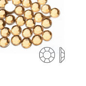 1000pcs Champagne Round 2x2x1 Flat Back Rhinestones Flatback acrylic Gems for Nail Art Cards wholesale SS6 AF0002-10