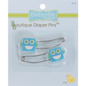 Babyville Boutique Dritz 35144 Nappy Pins, Robots, 2-Pack
