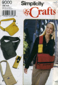 Simplicity Crafts Bag, Pocketbook and Cell Phone Holder Sewing Pattern 9000
