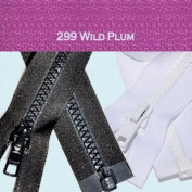 90cm Vislon Zipper ~ YKK #5 Moulded Plastic ~ Separating - 299 Wild Plum