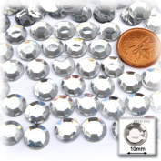 The Crafts Outlet 144-Piece Flat Back Loose Acrylic Round Rhinestones, 10mm, Crystal Clear