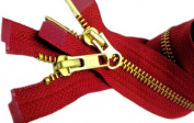 YKK Parka Zipper 90cm #5 (Special) Medium Weight 2 Way Separating ~ Colour 519 Hot Red