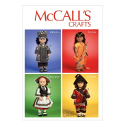 McCall Pattern Company M6855 International Clothes and Accessories for 46cm Doll Sewing Template, One Size