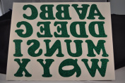 Holiday 5.1cm Iron-On Letters in Green Glitter