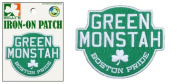 Green Monstah (Iron-On) Embroidered Patch