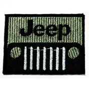Jeep Motorsport Racing Patches 6x4.5 cm Embroidered iron/sew on Patch to Cloth, Jacket, Jean, Cap, T-shirt and Etc.