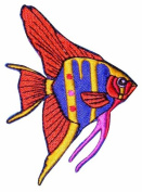ID #0235 Tropical Aquarium Fish Fishing Iron on Applique Patch