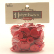 Buttons Galore Haberdashery Button, Red