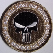 """Punisher """"God Will Judge Our Enemies"""" Military Morale Patch"""