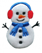ID #8016 Snowman Christmas Xmas Holiday Iron On Applique Patch